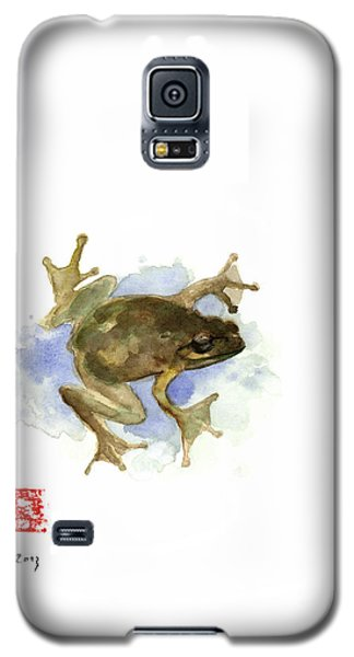 Green Yellow Blue Frog Lake River Animal World Water Colors Jewel Collection Galaxy S5 Case by Johana Szmerdt