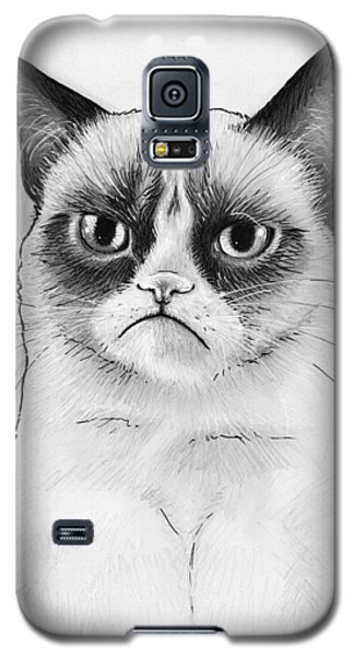 Grumpy Cat Portrait Galaxy S5 Case by Olga Shvartsur