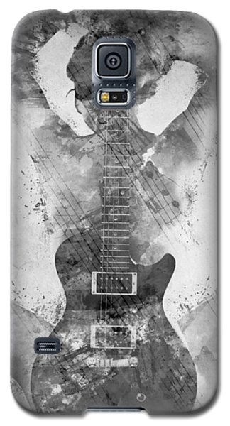 Music Galaxy S5 Cases - Guitar Siren in Black and White Galaxy S5 Case by Nikki Smith