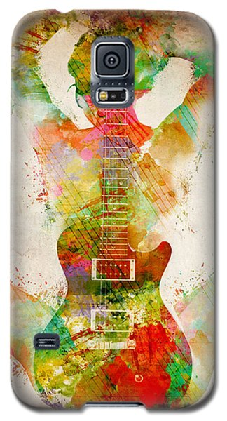 Celebrities Galaxy S5 Cases - Guitar Siren Galaxy S5 Case by Nikki Smith