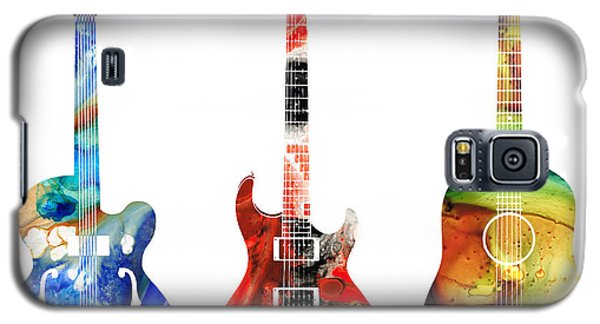 Music Galaxy S5 Cases - Guitar Threesome - Colorful Guitars By Sharon Cummings Galaxy S5 Case by Sharon Cummings