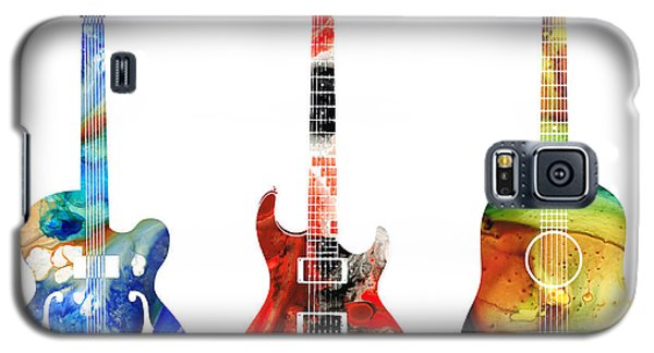 Guitar Threesome - Colorful Guitars By Sharon Cummings Galaxy S5 Case by Sharon Cummings