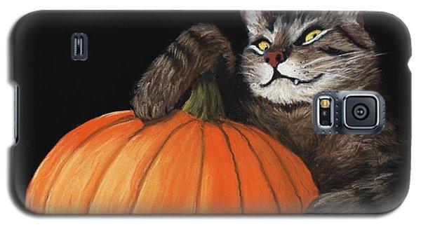 Pastels Galaxy S5 Cases - Halloween Cat Galaxy S5 Case by Anastasiya Malakhova