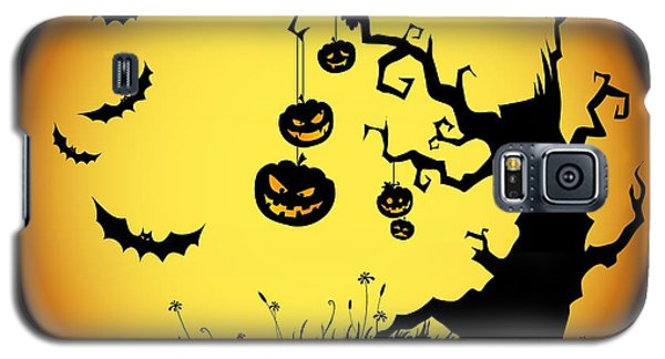 Halloween Haunted Tree Galaxy S5 Case by Gianfranco Weiss