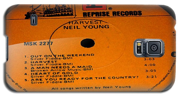 Harvest - Neil Young Side 1 Galaxy S5 Case by Marcello Cicchini