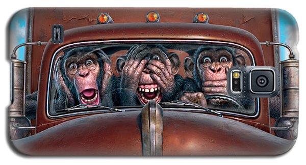 Hear No Evil See No Evil Speak No Evil Galaxy S5 Case by Mark Fredrickson