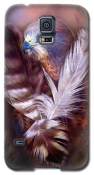 Heart Of A Hawk Galaxy S5 Case by Carol Cavalaris