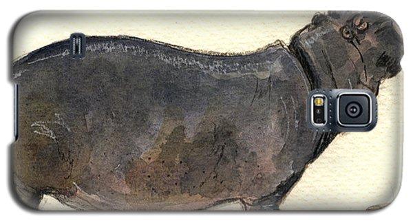 Hippo Happy Galaxy S5 Case by Juan  Bosco