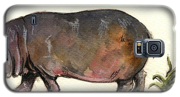 Hippo Galaxy S5 Case by Juan  Bosco