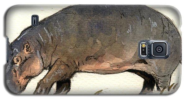 Hippo Walk Galaxy S5 Case by Juan  Bosco