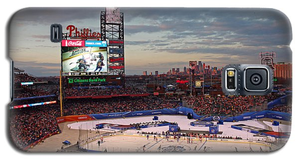 Hockey At The Ballpark Galaxy S5 Case by David Rucker