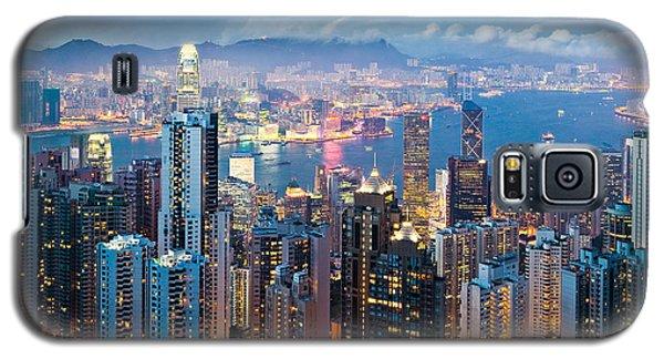 Hong Kong At Dusk Galaxy S5 Case by Dave Bowman