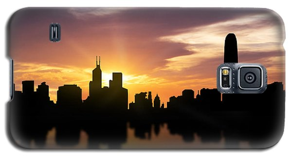 Hong Kong Sunset Skyline  Galaxy S5 Case by Aged Pixel