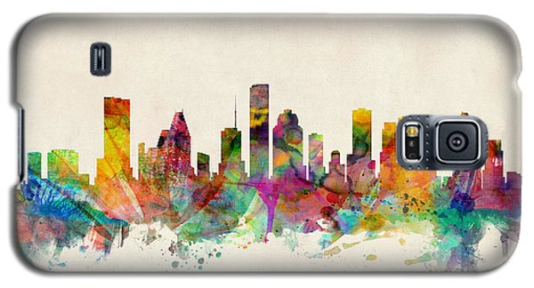 Houston Texas Skyline Galaxy S5 Case by Michael Tompsett