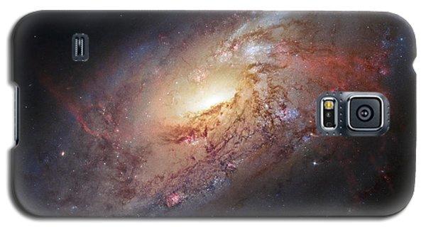 Hubble View Of M 106 Galaxy S5 Case by Adam Romanowicz