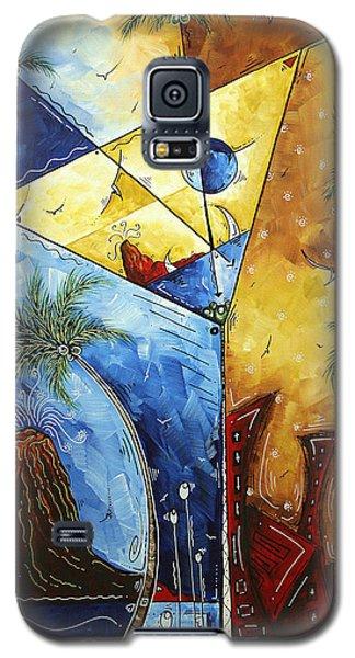 Island Martini  Original Madart Painting Galaxy S5 Case by Megan Duncanson