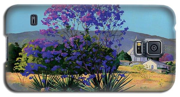 Jacaranda Holy Ghost Church In Kula Maui Hawaii Galaxy S5 Case by Don Jusko