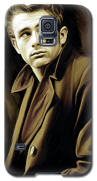Celebrities Galaxy S5 Cases - James Dean Artwork Galaxy S5 Case by Sheraz A