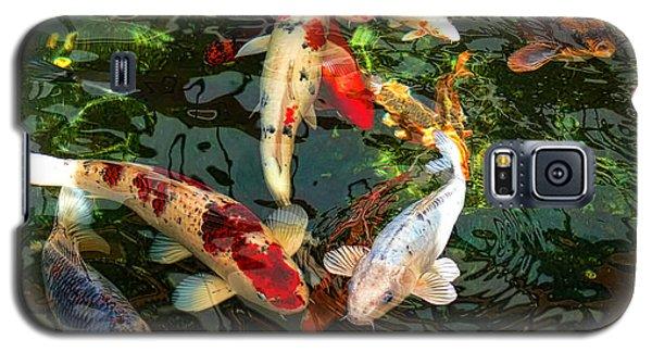 Japanese Koi Fish Pond Galaxy S5 Case by Jennie Marie Schell