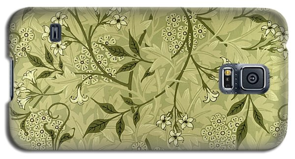 Tapestries - Textiles Galaxy S5 Cases - Jasmine wallpaper design Galaxy S5 Case by William Morris
