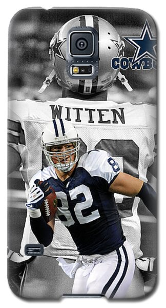 Jason Witten Cowboys Galaxy S5 Case by Joe Hamilton