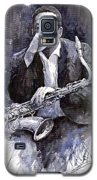 Jazz Saxophonist John Coltrane Black Galaxy S5 Case by Yuriy  Shevchuk