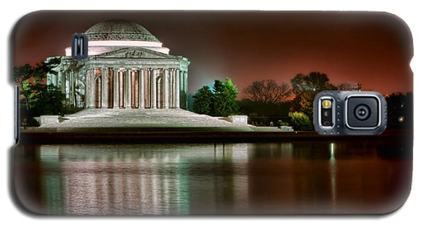 Jefferson Memorial At Night Galaxy S5 Case by Olivier Le Queinec
