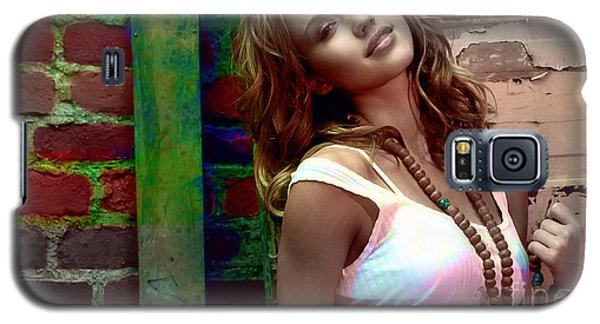 Jessica Alba Galaxy S5 Case by Marvin Blaine