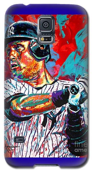 Jeter At Bat Galaxy S5 Case by Maria Arango