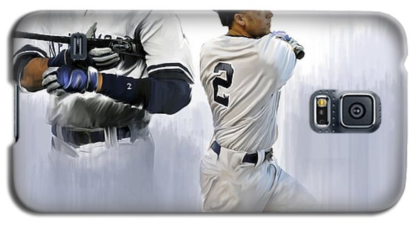 Jeter V Derek Jeter Galaxy S5 Case by Iconic Images Art Gallery David Pucciarelli
