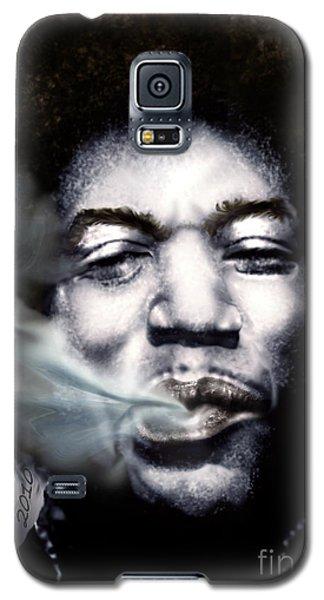 Jimi Hendrix-burning Lights-2 Galaxy S5 Case by Reggie Duffie