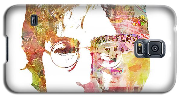 Celebrities Galaxy S5 Cases - John Lennon Galaxy S5 Case by Mike Maher