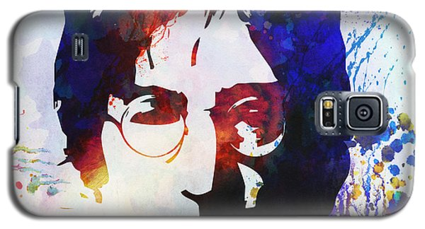 Celebrities Galaxy S5 Cases - John Lennon stencil portrait Galaxy S5 Case by Pixel Chimp