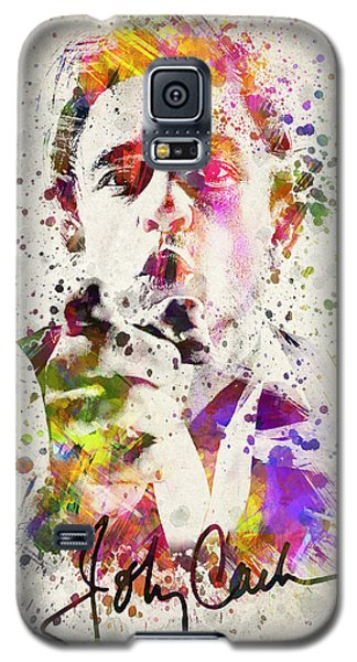 Johnny Cash  Galaxy S5 Case by Aged Pixel