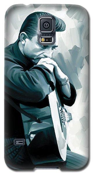 Johnny Cash Artwork 3 Galaxy S5 Case by Sheraz A