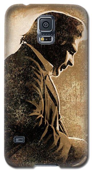 Johnny Cash Artwork Galaxy S5 Case by Sheraz A