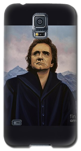 Johnny Cash Painting Galaxy S5 Case by Paul Meijering
