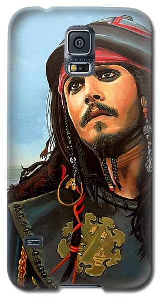 Johnny Depp As Jack Sparrow Galaxy S5 Case by Paul Meijering