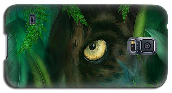 Jungle Eyes - Panther Galaxy S5 Case by Carol Cavalaris