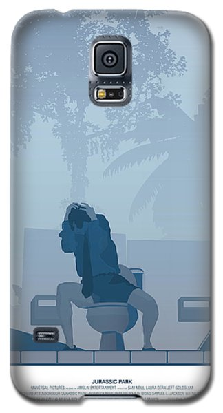 Jurassic Park Poster - Feat. Gennaro Galaxy S5 Case by Peter Cassidy