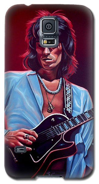 Popular Galaxy S5 Cases - Keith Richards 2 Galaxy S5 Case by Paul Meijering