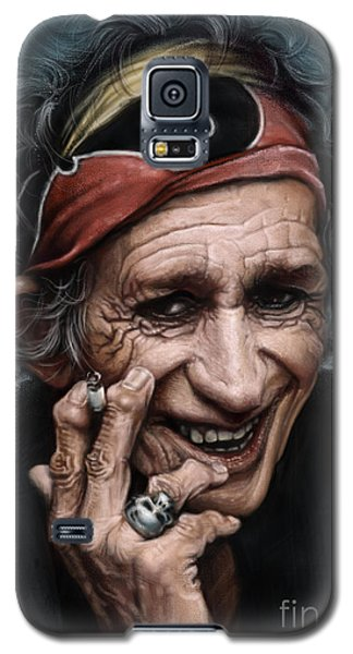 Keith Richards Galaxy S5 Case by Andre Koekemoer