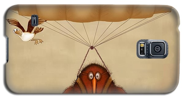 Kiwi Bird Kev Parachuting Galaxy S5 Case by Marlene Watson