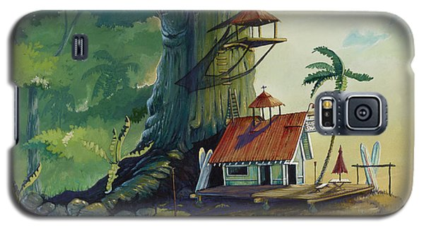 Paintings Galaxy S5 Cases - Ko olau Surf Shack Galaxy S5 Case by Bill Shelton