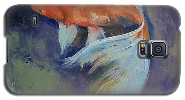 Koi Fish Painting Galaxy S5 Case by Michael Creese