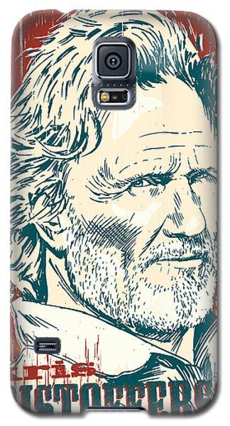 Kris Kristofferson Pop Art Galaxy S5 Case by Jim Zahniser