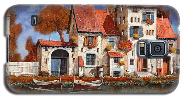 Paintings Galaxy S5 Cases - La Cascina Sul Lago Galaxy S5 Case by Guido Borelli