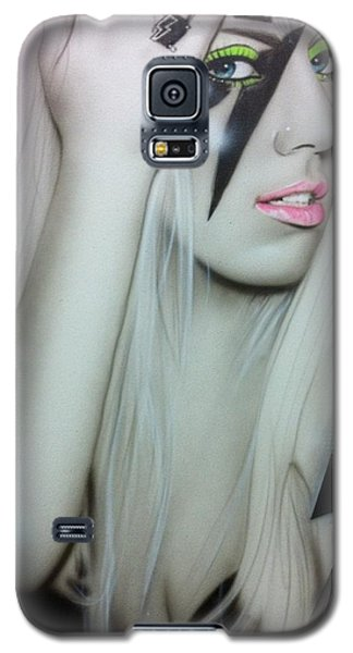 Celebrities Galaxy S5 Cases - Lady GaGa Galaxy S5 Case by Christian Chapman Art