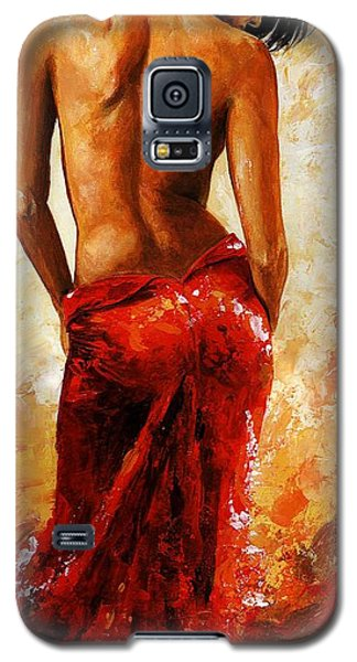 Impressionism Galaxy S5 Cases - Lady in red 27 Galaxy S5 Case by Emerico Imre Toth