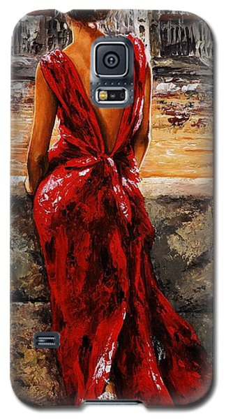 Impressionism Galaxy S5 Cases - Lady in red  34 -  I love Budapest Galaxy S5 Case by Emerico Imre Toth